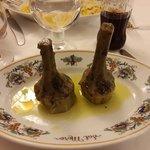 Artichokes a la Romana...  My wife's favorite artichoke dish.