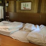 Kind of like bedrooms in Japan; nice heated pads for each mattress