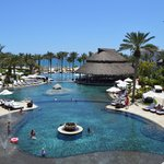 Cabo Azul's 3 cascading pools and swim up bar under the palapa1