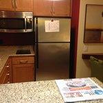 Kitchen Area with Full-size Fridge