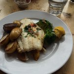 Fish - very well cooked - beautifully moist