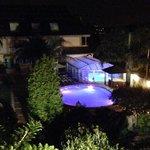 piscinas de noche