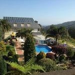 jardines y piscinas desde la habitacion
