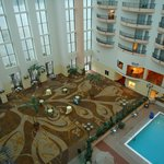Lobby from the top floor balcony