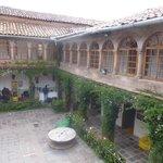 El patio del Hostel