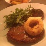 8oz Ribeye steaks, hand cut chips
