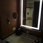 Restoom vanity and sink