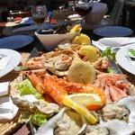 Sea food platter for 2