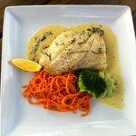 Poached Hapuka at Plume Vineyard Restaurant Matakana