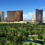 View of Wynn, Encore and Golf Course