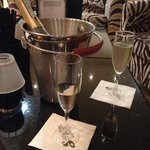 A bottle of prosecco in silks! :)