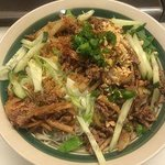 noodle salad bowl with beef