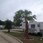 Attractive and safe campground.