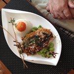Filet de st pierre à l'huile vierge riz basmati fèves et spianata