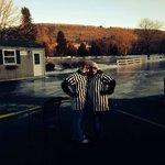 Turkey curling @ McGirk's in the frozen parking lot!!!'