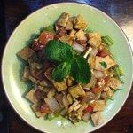 Tofu and veggie scramble is so tasty!