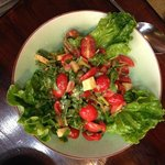 Tomato salad is so beautiful you don't want to eat it!