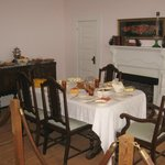 Dining room in Jimmy Carters boyhood home, Plains, GA
