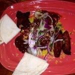 Chicken in mole w/ plantains