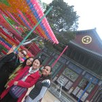 jogyesa temple with my friends...the lanterns were off...