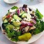 Greek salad- it looked good at first but after close inspection it was obvious that it was a day