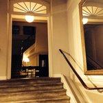 Inside entrance to adjacent building of palace.