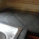Warped & stained kitchen top