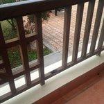 Broken balustrade in patio