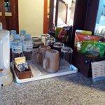 Minibar -  2 complimentary bottled water, tea, cofee