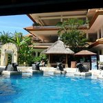 Balinese pool side decor