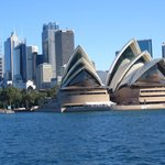Closer view of Opera House from ferry