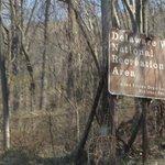 Delaware water Gap sign