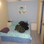 Bedroom 1 (sliding door to right is bathroom)
