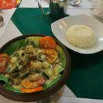grilled prawn in coconut sauce!