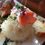 Beautifully decorated lemon rice.  Love the carrot! Horfrost  |  190 A River Road, Portage la Pr