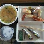 寿司7貫とフグ汁で 1,600円