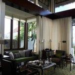 Living room in pool villa