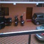 Spacious car parking