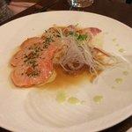 前菜.スズキと鮭のタタキ