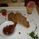 foie gras , confiture figues
