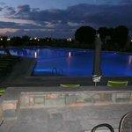piscine principale éclairé