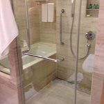 Shower and soak tub in same enclosed area