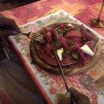 entrée :planche de jambon de sanglier