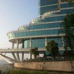 Cruise-ship shaped hotel