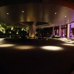 The main reception area at night