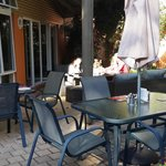 breakfast on the terrace when the weather permits - just lovely