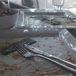 Empty plates = satisfaction....