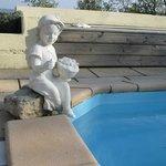 Visiteuse piscine