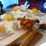 Breakfast at the chateau