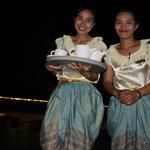 traditional Thai restaurant waitresses